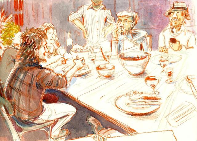 france_clermont_ferrand_dinner