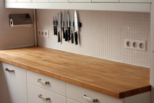 kitchen wooden counter