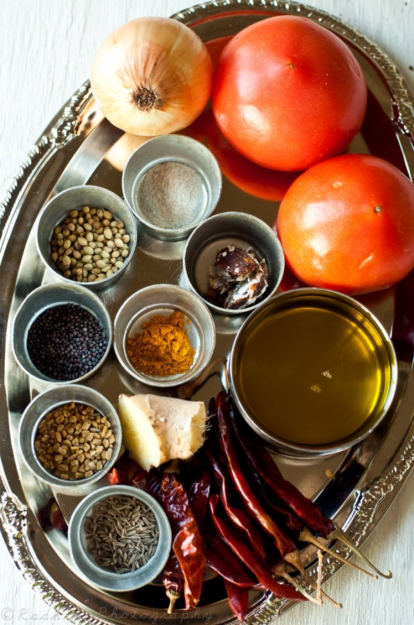 Ingredients for Tomato Pickle