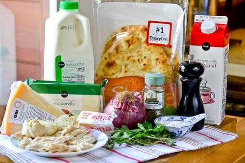 Roasted Garlic, Chicken & Herb Flatbread Pizza-2