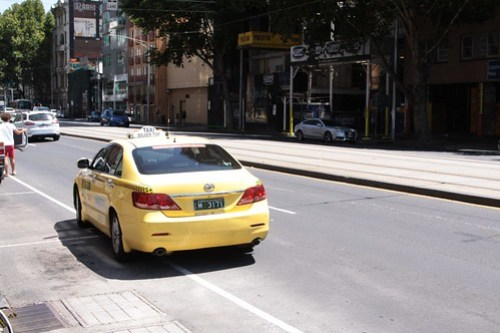 Toyota Camry sedan as a Melbourne taxi