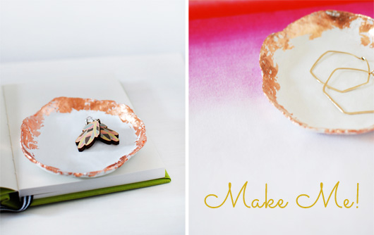 Make Me: Handmade Jewelry Dishes With Copper Touches