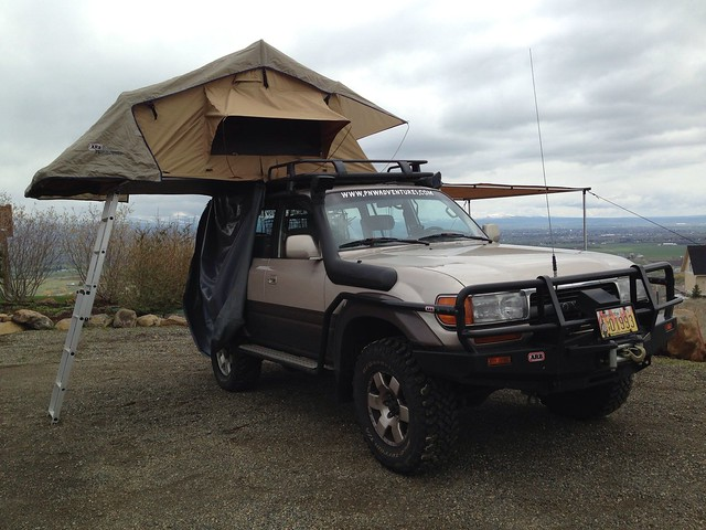 FJ80 Toyota Land Cruiser, ARB Roof Top Tent, ARB Awning