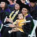 """William S. Richardson School of Law graduate Eryn Leong and her 13-month old daughter Adelyn hold their certificates. The Law School has a unique keiki support program that embraces students who are also parents, and creates special certificates for the children who have been supportive of their parents through law school. May 12, 2013. (Photos by Mike Orbito)  For more photos go to the <a href=""""https://picasaweb.google.com/lawschoolphotos/20130512ToastAndCommencement?authuser=0&authkey=Gv1sRgCLySgIWT2rmxKg&feat=directlink"""" rel=""""nofollow""""> School of Law's Picasa album</a>"""
