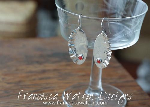 Feather Earrings with Carnelian by Francesca Watson Designs