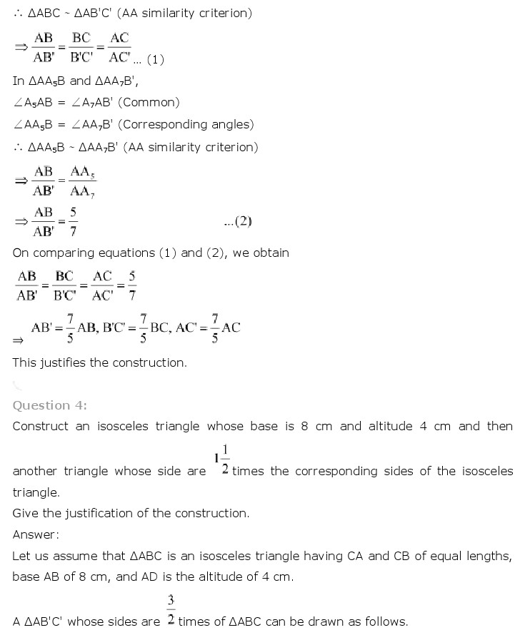 NCERT Solutions for Class 10th Maths: Chapter 11   Constructions