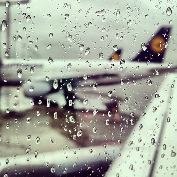 LH in #Munich wet...