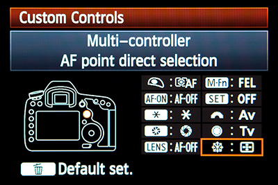 canon 5d mark iii mk 3 multi controller direct af auto focus autofocus point select