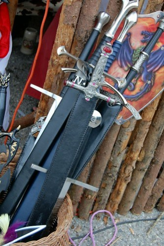 Swords at Burgfest Castle Festival