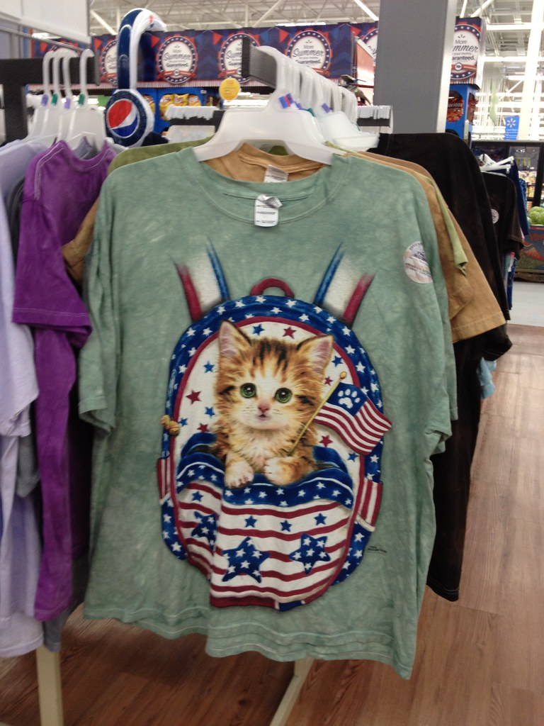 Fourth of July & Summer Products: Americana Kitten Shirt
