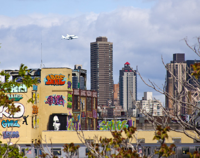 Space Shuttle Enterprise Flyover from Long Island City