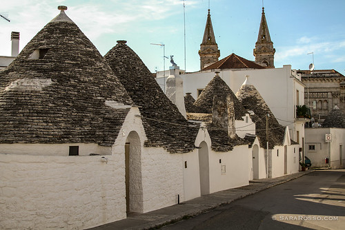 A row of trulli, Alberobello, Puglia