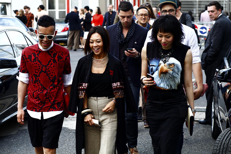2012_06 Tuukka Laurila Paris Mens Fashion Week Street Style - Eagel Meets Jil Sander SS 12 Snake Print2