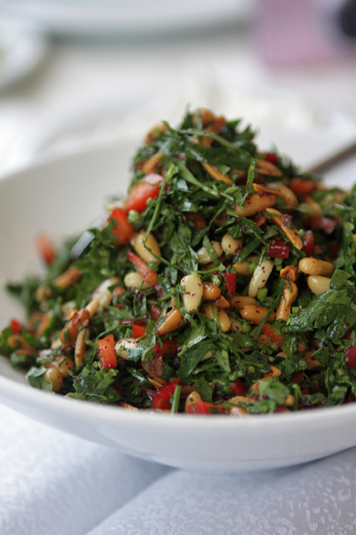 herb salad with pinenuts