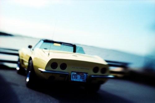 Tilt shift Corvette