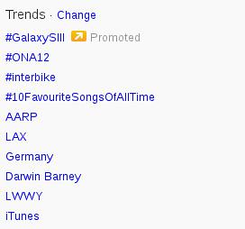 Interbike trending on Twitter