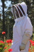 Beekeeper Helen Kennedy at Arlo's Honey Farm in the Okanagan