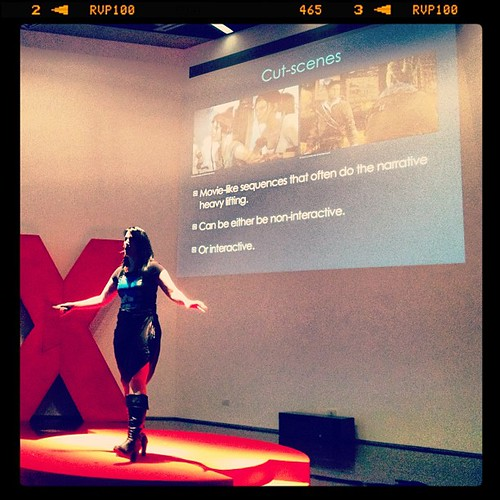 Tomb Raider Reboot writer @rhipratchett on writing video games. #TEDxTransmedia #transmedia #tombraider