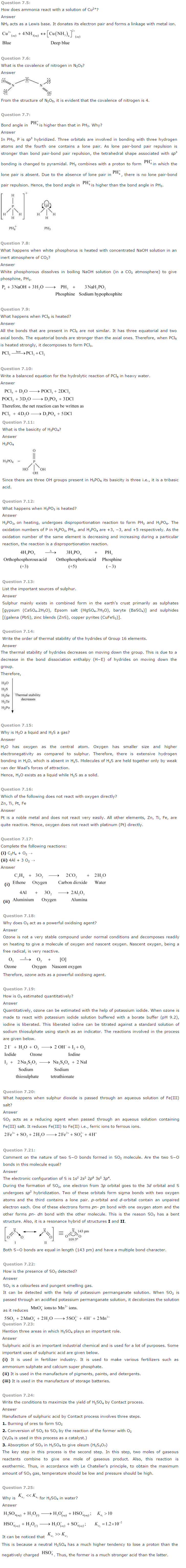 NCERT Solutions for Class 12th Chemistry Chapter 7 The p Block Elements Image by AglaSem