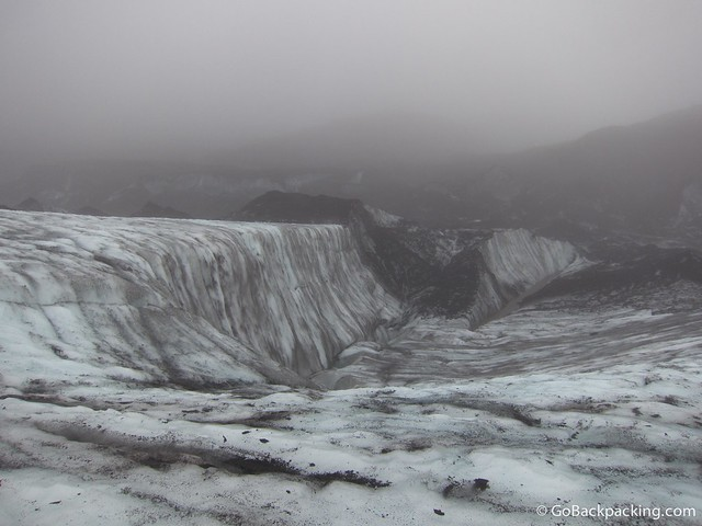 The wall on the left is where we did the ice climbing