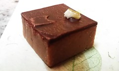 &lt;p&gt;A gianduja of lime &amp;amp; lemon w coconut rum, almonds and 33% Madagascar milk chocolate topped w a crystallized lime.&lt;/p&gt;