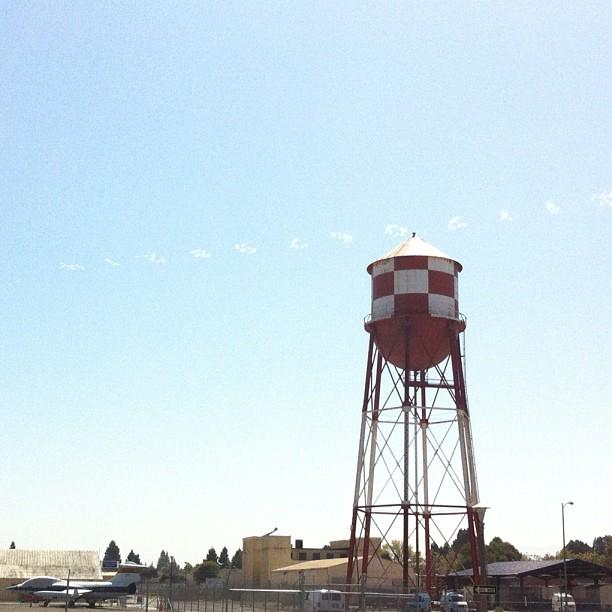 Pi in the Sky above Moffett Field earlier #piinthesky