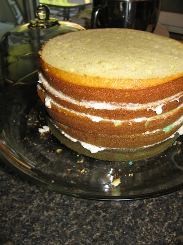 Building the 5-layer cake!
