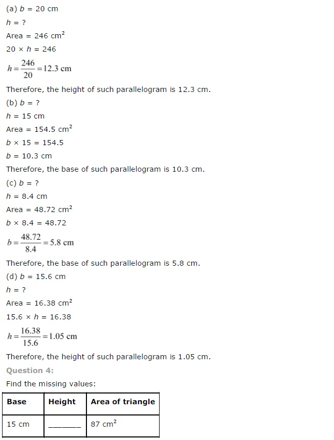 NCERT Solutions for Class 7th Maths Chapter 11   Perimeter and Area Image by AglaSem