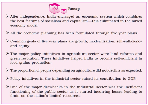NCERT Class XI Economics: Chapter 2 – Indian Economy 1950 1990