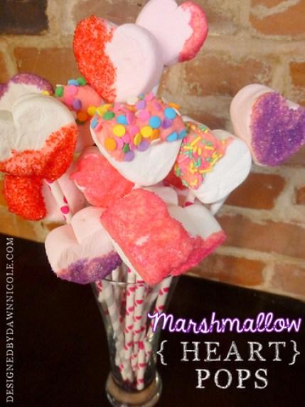 Marshmallow {Heart} Pops