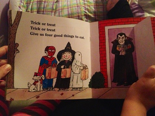 a witch, a ghost, a fireman, and a grampire.