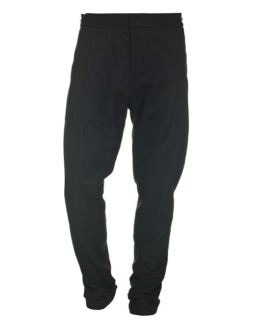 JULIUS DEEP GRAY ANGORA BLEND PANTS