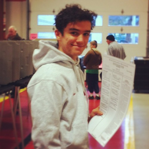 My son #voted for his first time today! XoS @barackobama @benbaum3