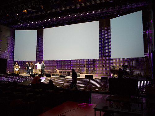 LeWeb'12 Behind the Scenes 7 -- Stage and screens