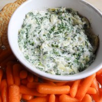 Light Artichoke & Spinach Dip