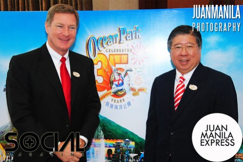 During the media briefing with Ocean Park Corporation headed by Tom Mehrmann, Chief Executive; and Paul Pei, Executive Director, Sales & Marketing.