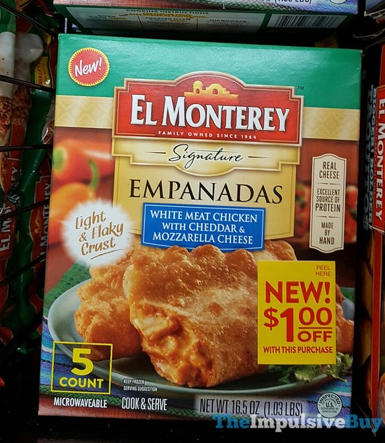 El Monterey White Meat Chicken with Cheddar & Mozzarella Cheese Empanadas