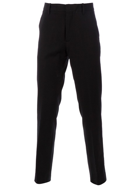 Ann Demeulemeester Slim-Fit Black Trousers
