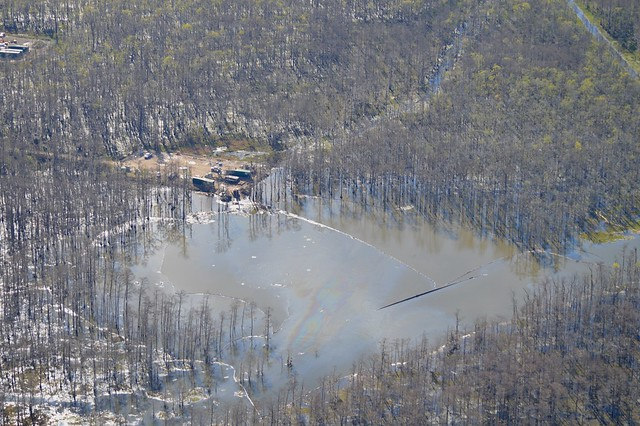 Sinkhole From Collapsed Brine Cavern, Bayou Corne, LA