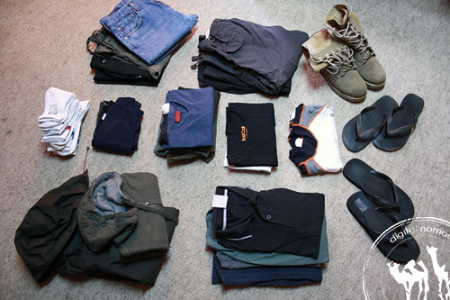 Travel clothes, our round the world clothes