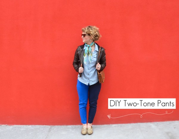 DIY Two-Tone Pants