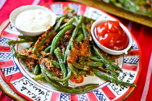 Baked Parmesan Green Bean Fries-7
