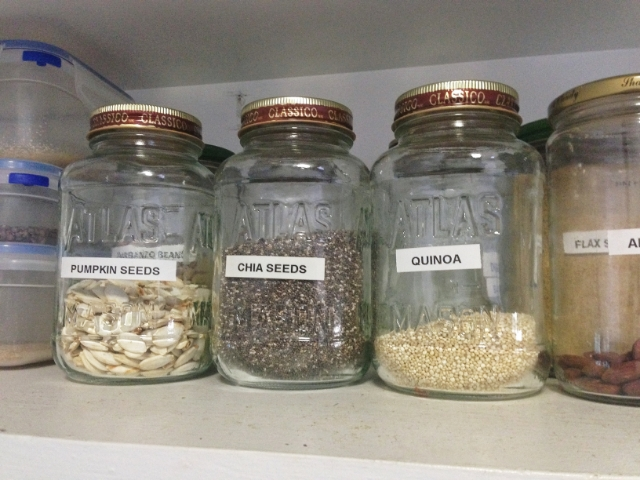 Recycled Jars for Storage: One of my 2012 Favorites