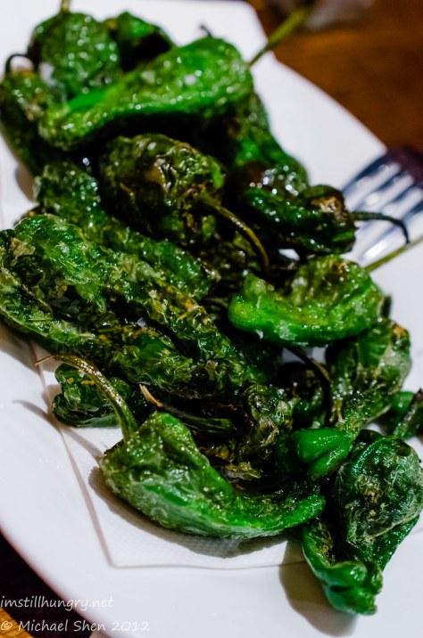 Encasa Pimiento de Padrón - fried Spanish peppers