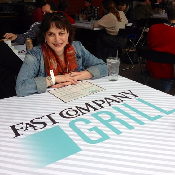 Lunch with @hrlori at the @FastCompany Grill #sxsw