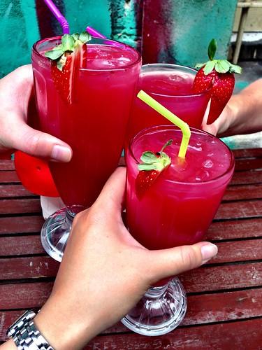 Watermelon & strawberry juices