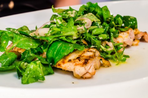 Icebergs - Free Range Chicken Paillarde, Rocket, Shallots, Watercress, Horseradish, Chilli, Lemon