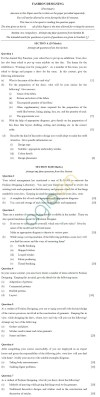 ICSE 2013 Class X Sample Question Papers – Fashion Designing