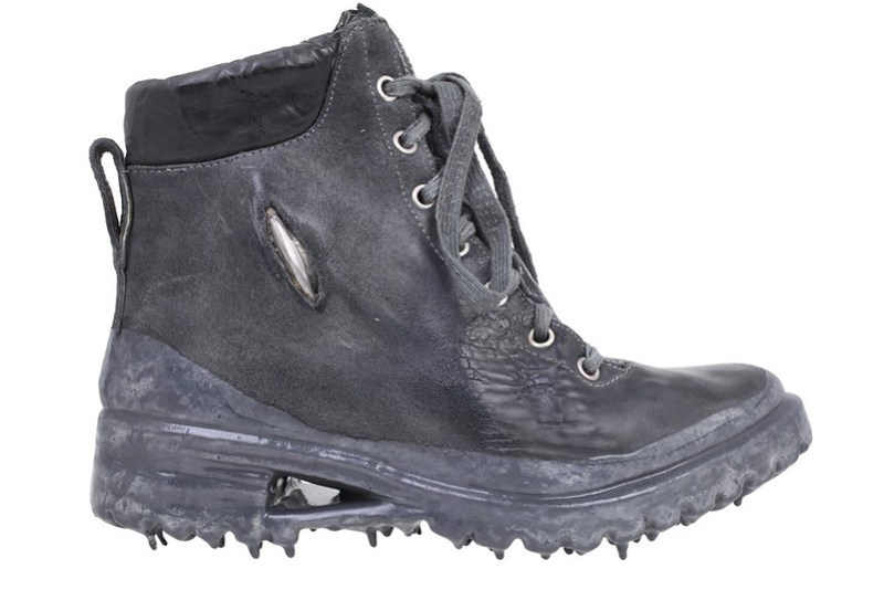 Carol Christian Poell - Boots Object Dyed Prosthetic Ankle Work Boots in dark gray 2