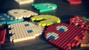 3D Pac-Man Lighting, Texture, DOF, and Collision Test4